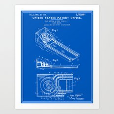 Skee Ball Patent - Blueprint Art Print
