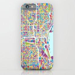Milwaukee Wisconsin City Map iPhone Case