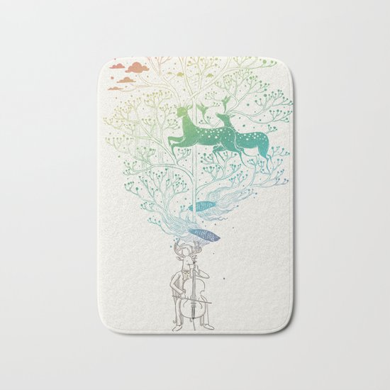 The Cellist Bath Mat