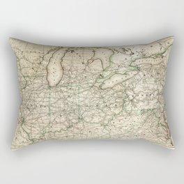 Map of the Pennsylvania Railroad (1871) Rectangular Pillow