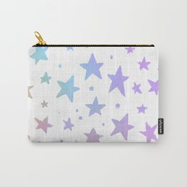 Lavender pink coral watercolor hand painted stars Carry-All Pouch