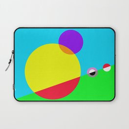 Circles #1 Abstract Modern Painting by Bruce Gray Laptop Sleeve