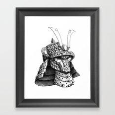 Samurai Helm Framed Art Print
