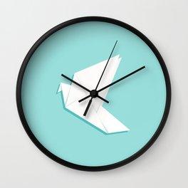 Origami pigeon Wall Clock