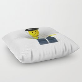 Casual Minifig in summer shirt and beanie Floor Pillow