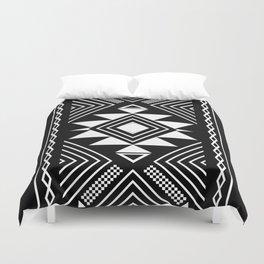 Aztec boho ethnic black and white Duvet Cover