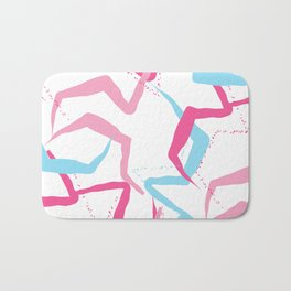 Pink blue fantasy Bath Mat