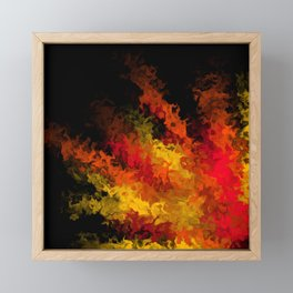 fiery marble 015 Framed Mini Art Print