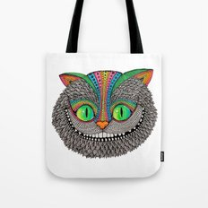 Alice´s cheshire cat by Luna Portnoi Tote Bag