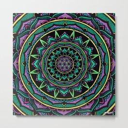 Valeria Flower Of Life Mandala Metal Print