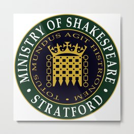 Ministry of Shakespeare Metal Print