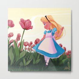 Alice in the Golden Afternoon Metal Print