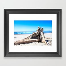Drift wood Fort Framed Art Print