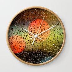Rain Drops and Color Pops Wall Clock