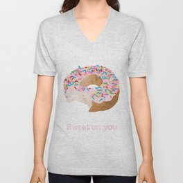 Sweet on You Donut Unisex V-Neck