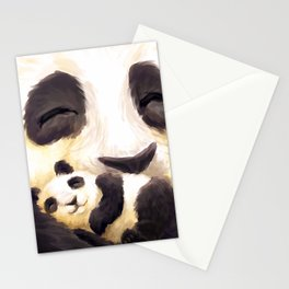 Cuddly panda Stationery Cards