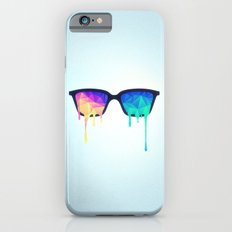 Psychedelic Nerd Glasses with Melting LSD/Trippy Color Triangles iPhone 6s Slim Case