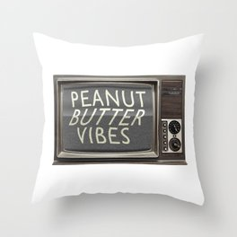 Peanut Butter Vibes Throw Pillow