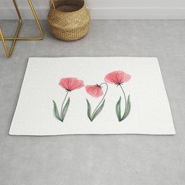 Spring Flower Trio Blush  Rug
