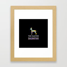 Dalmation gifts | Easter gifts | Easter decorations | Easter Bunny | Spring decor Framed Art Print