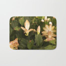 Christmas Cactus Buds and Blooms Bath Mat
