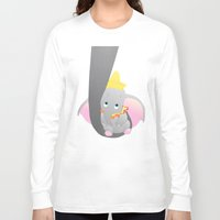 dumbo Long Sleeve T-shirts featuring dumbo and his mom by studiomarshallarts