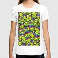 sticker T-shirts featuring Sticker Puke by 32ivories