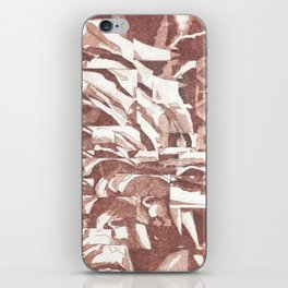 Fractured Flora Dusty Rose iPhone Skin