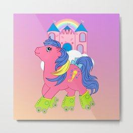g1 my little pony tales rollerskating melody Metal Print