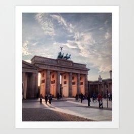 Brandenburg Gate in the Evening Art Print
