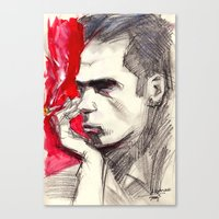 nick cave Canvas Prints featuring Nick Cave by Smog