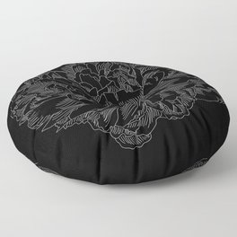 layer upon layer black Floor Pillow