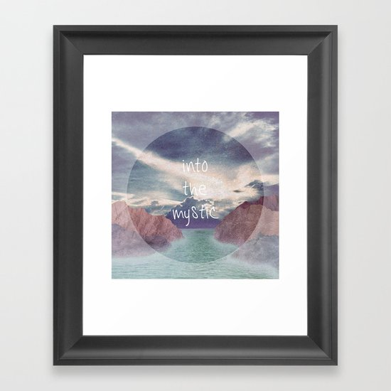 Into the Mystic (ANALOG zine) Framed Art Print