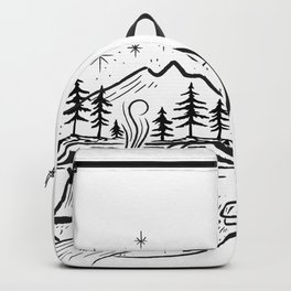 Nature camping Sign Backpack