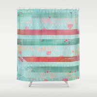 girly Shower Curtains featuring Girly Vintage by MJ'designs - Marosée Créations