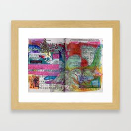 Swamp Thing Saves Framed Art Print