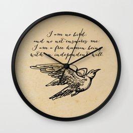 Jane Eyre - No bird - Bronte Wall Clock