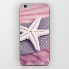 MARITIME STILL LIFE with sea shell and starfish iPhone & iPod Skin