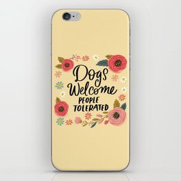 Pretty Not-So-Sweary: Dogs Welcome, People Tolerated iPhone Skin