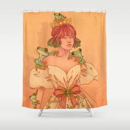 Frog Queen Shower Curtain