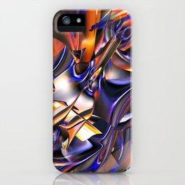 Iridescent Copper Metallic Patina Abstract iPhone Case