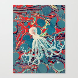 Vintage Octopus Canvas Print