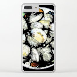 Bowl of Clams Clear iPhone Case