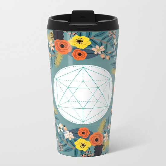 Sacred Geometry 3 Metal Travel Mug