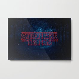Strange Things Art Metal Print