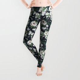 Rustic Floral Print Leggings