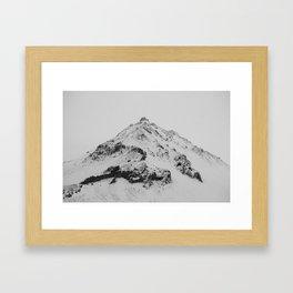 snowy icelandic mountain Framed Art Print