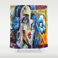 madonna Shower Curtains featuring Madonna by Robin Curtiss