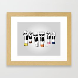 Reservoir Colours (no blood and dark colored t-shirts) Framed Art Print
