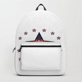 Vintage US Flag Star Backpack